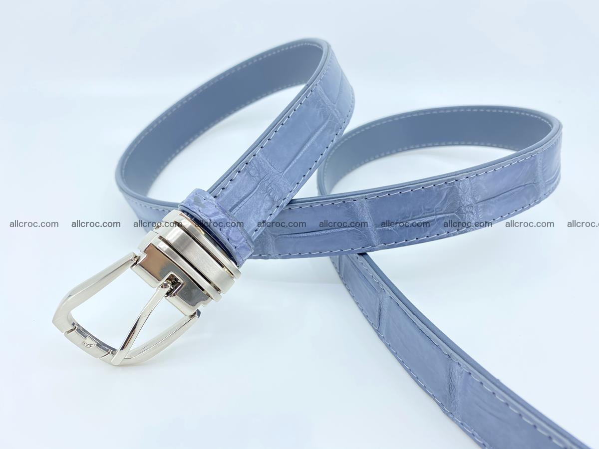 Handcrafted Siamese crocodile leather belt for women 869 Foto 1