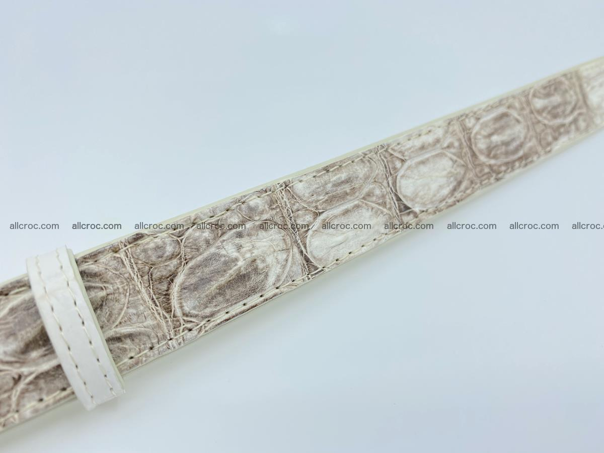 Handcrafted Siamese crocodile leather belt for women 874 Foto 5