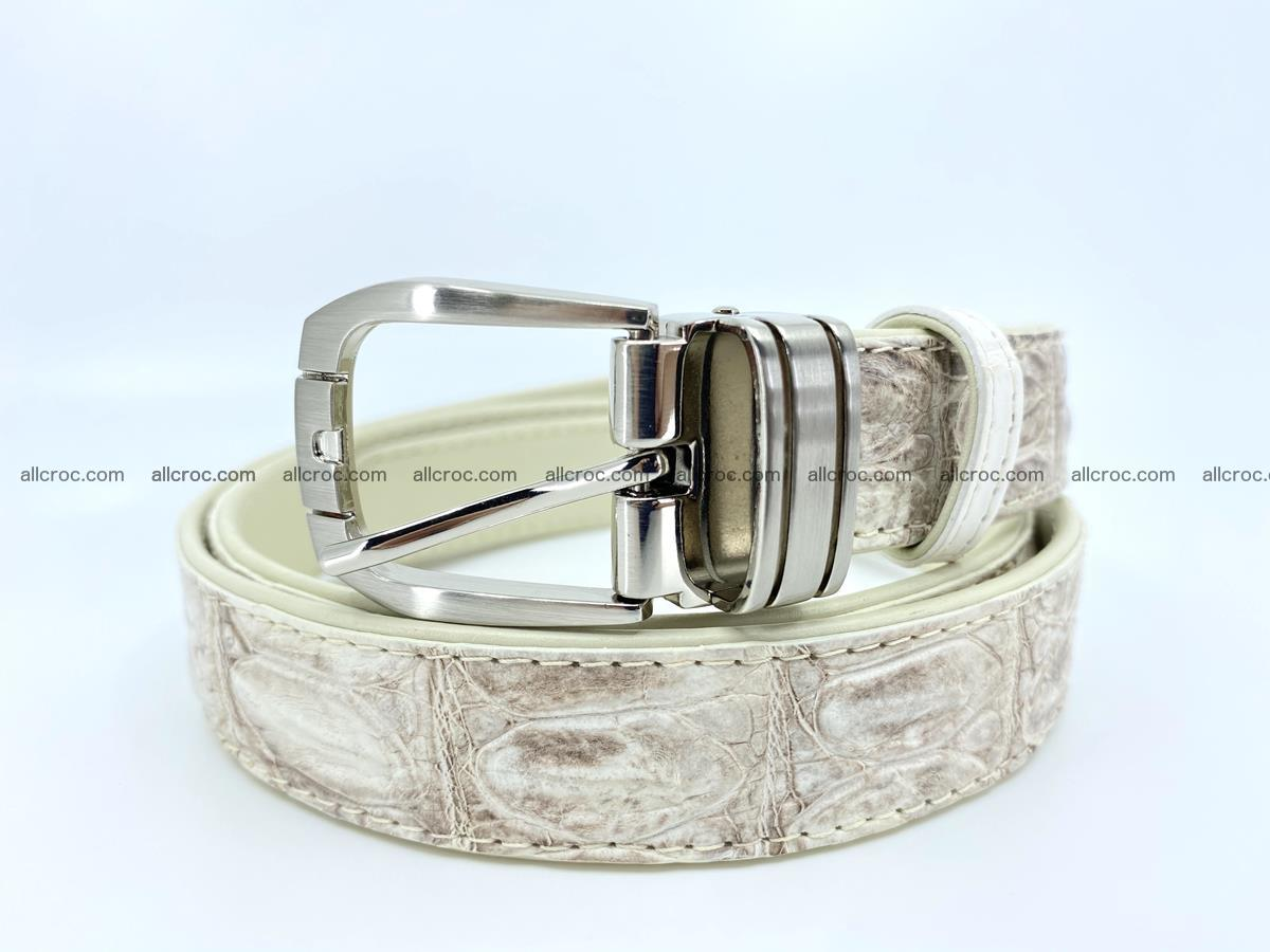 Handcrafted Siamese crocodile leather belt for women 874 Foto 0