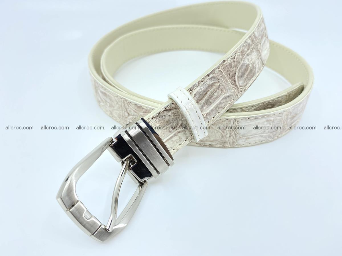 Handcrafted Siamese crocodile leather belt for women 874 Foto 2