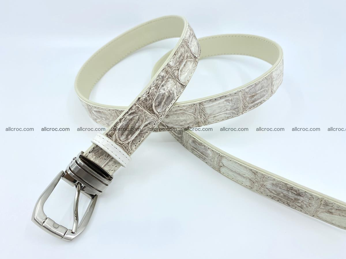 Handcrafted Siamese crocodile leather belt for women 874 Foto 3