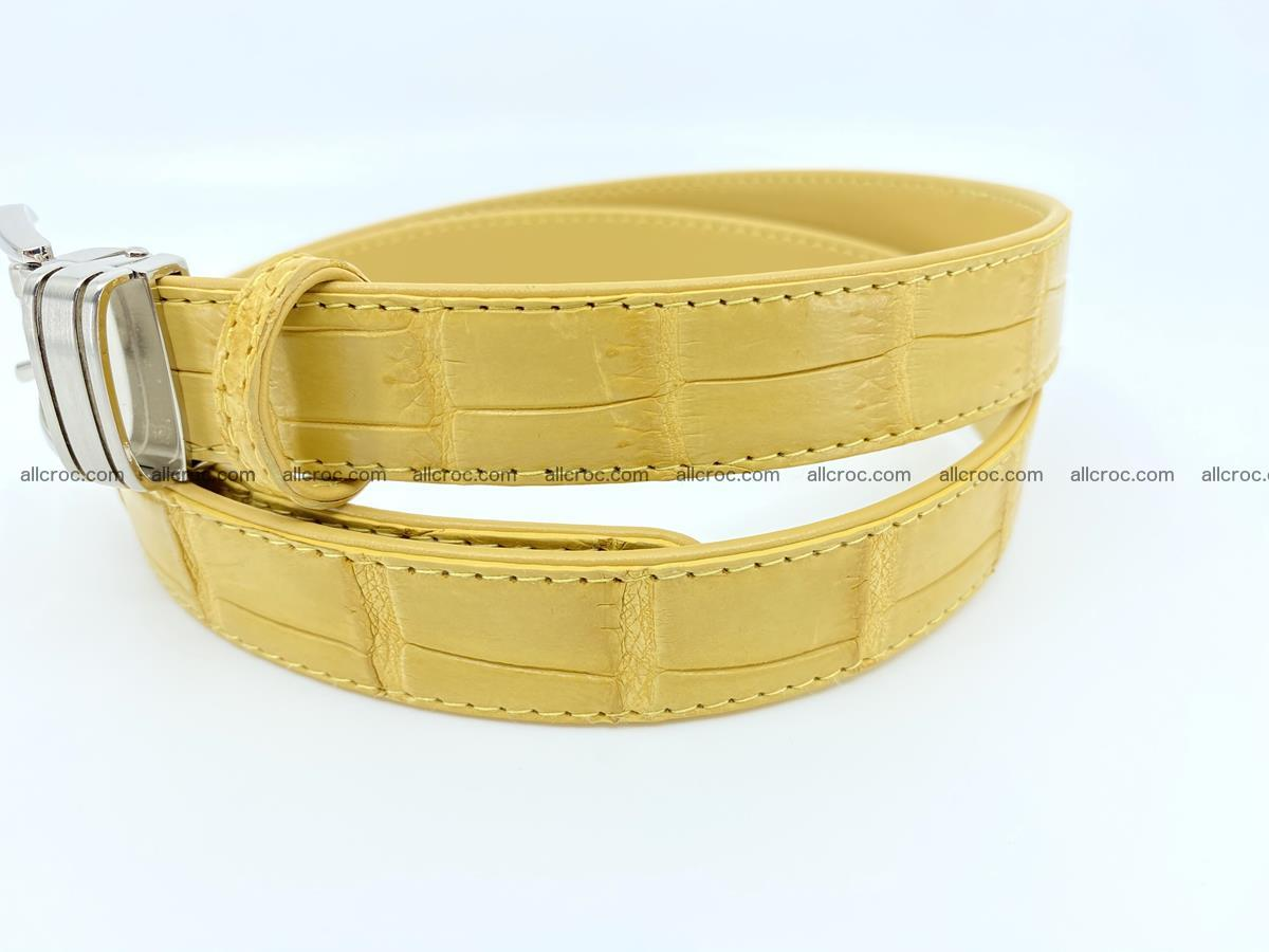 Handcrafted Siamese crocodile leather belt for women 876 Foto 1