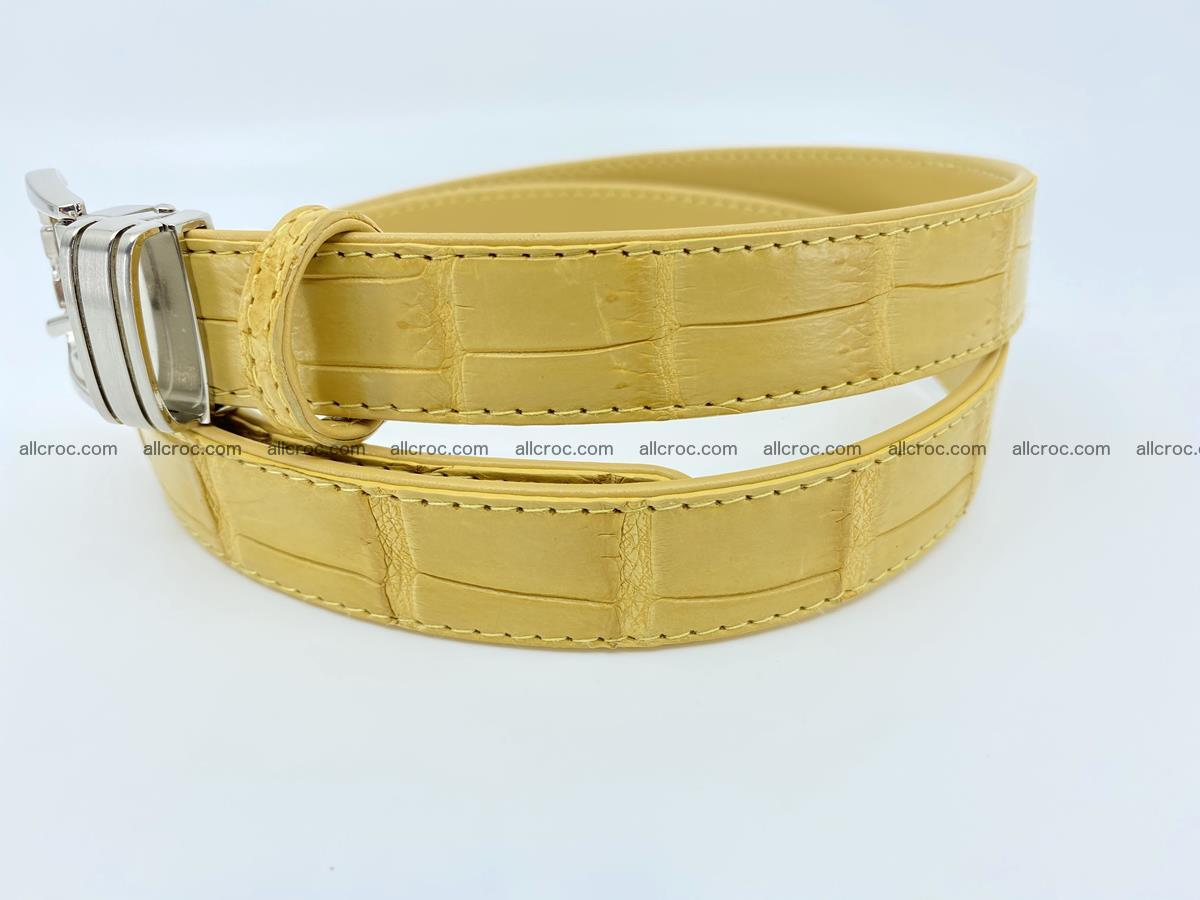 Handcrafted Siamese crocodile leather belt for women 876 Foto 2