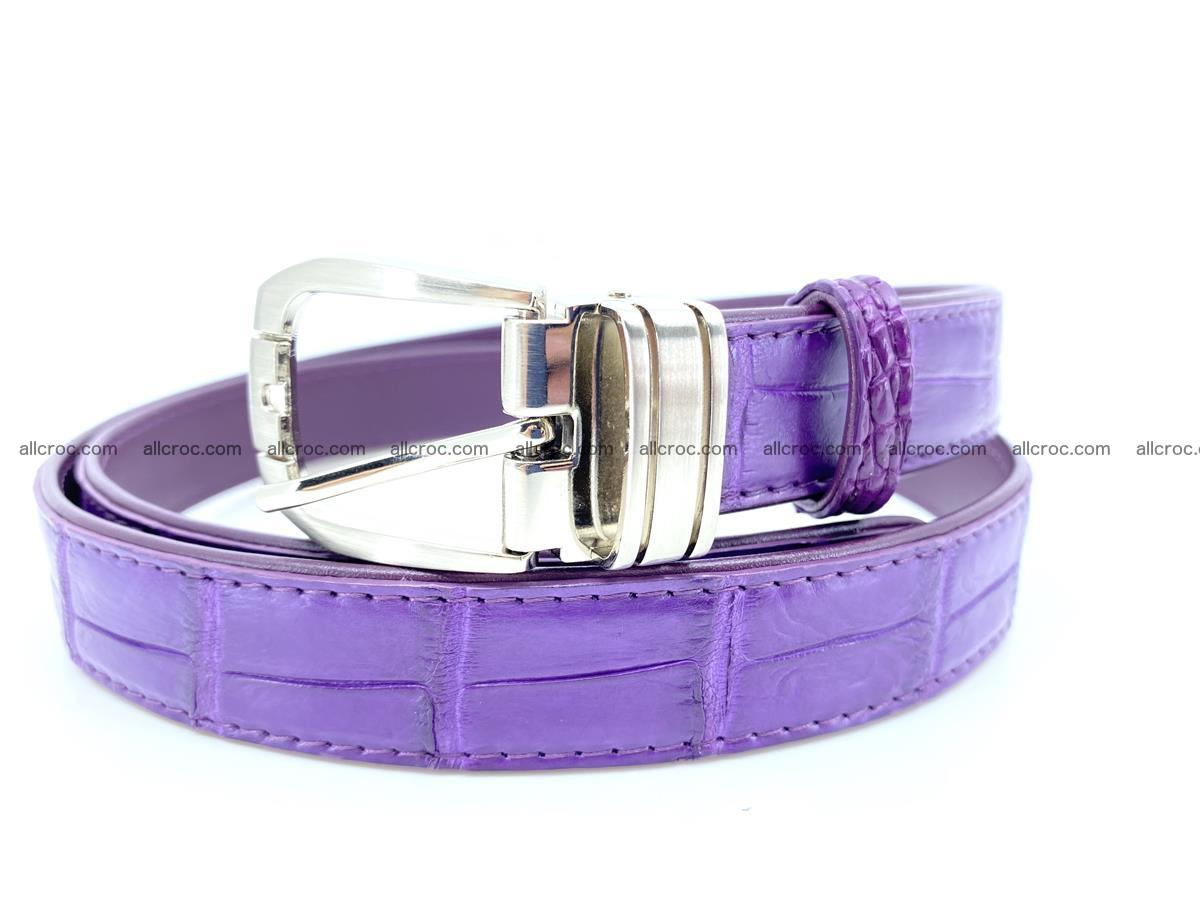 Handcrafted Siamese crocodile leather belt for women 867 Foto 0