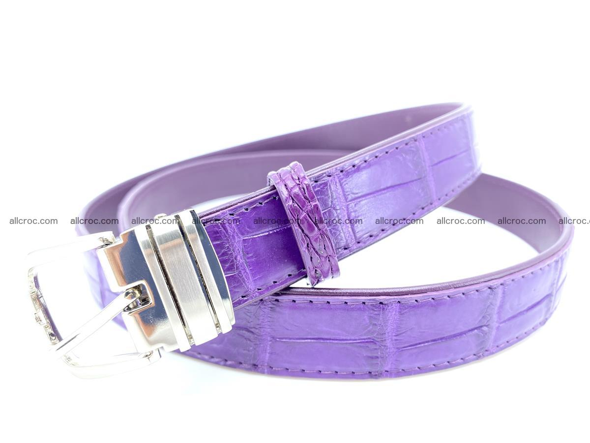Handcrafted Siamese crocodile leather belt for women 867 Foto 1