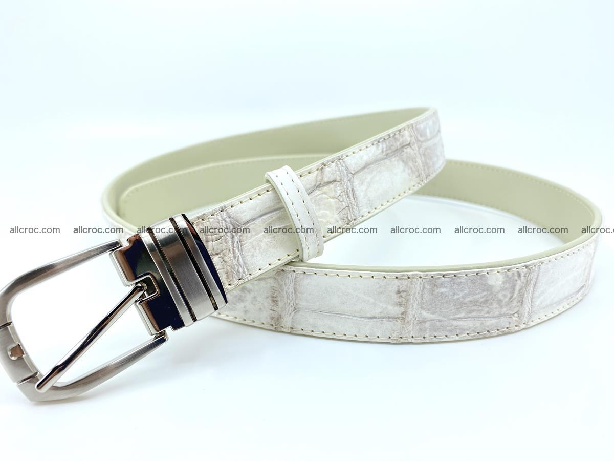 Handcrafted Siamese crocodile leather belt for women 870 Foto 1