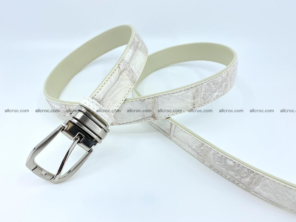 Handcrafted Siamese crocodile leather belt for women 870 Foto 2