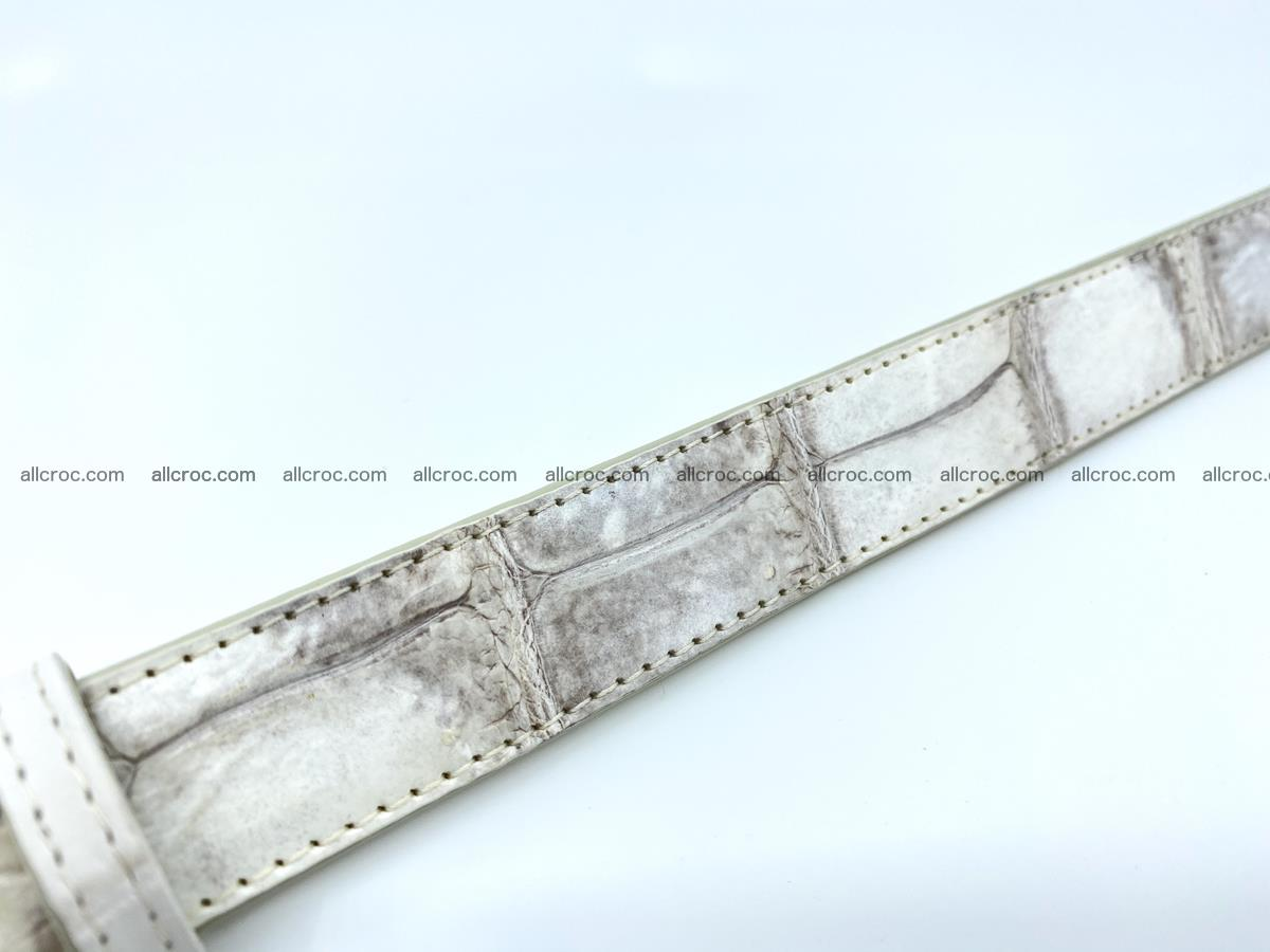 Handcrafted Siamese crocodile leather belt for women 870 Foto 4