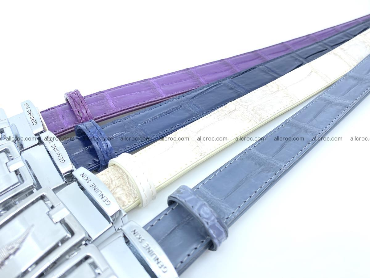 Handcrafted Siamese crocodile leather belt for women 870 Foto 6
