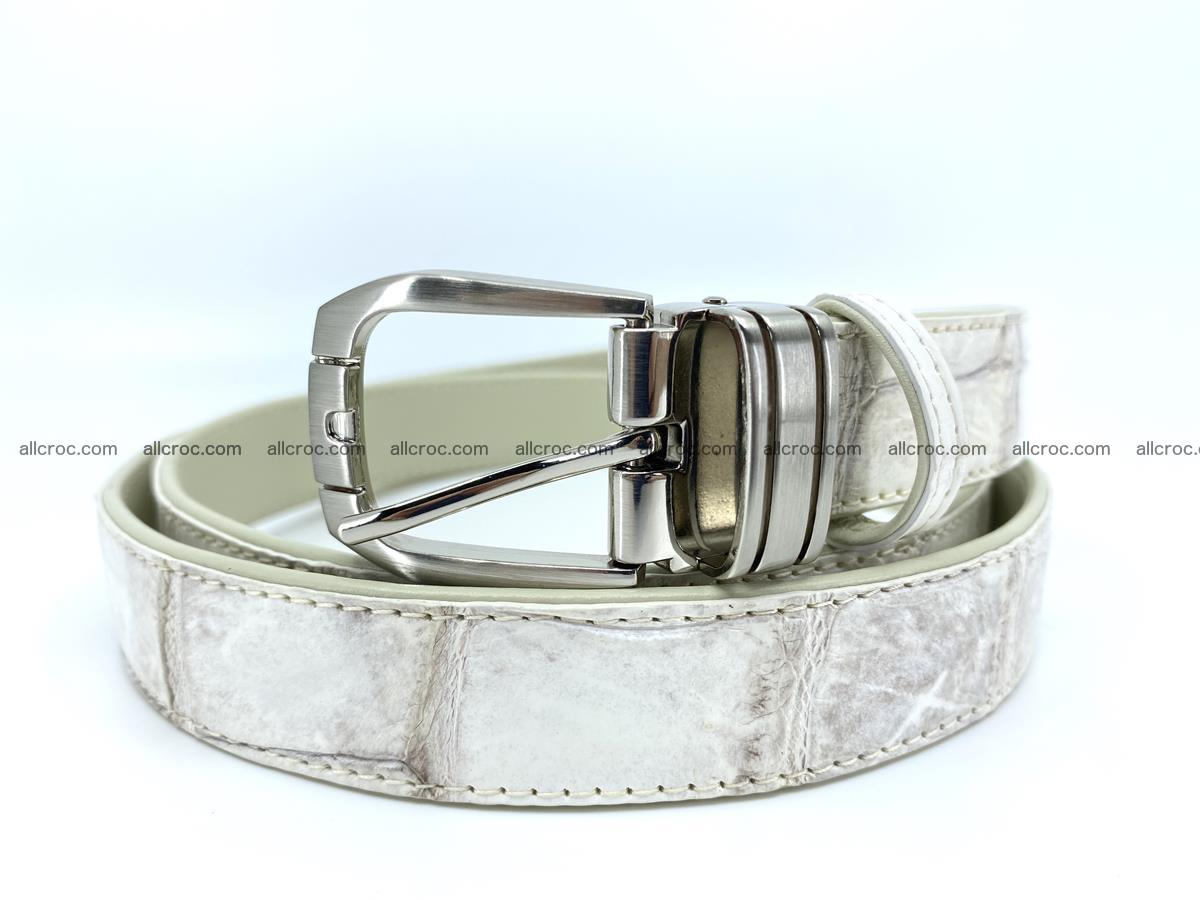 Handcrafted Siamese crocodile leather belt for women 870 Foto 0