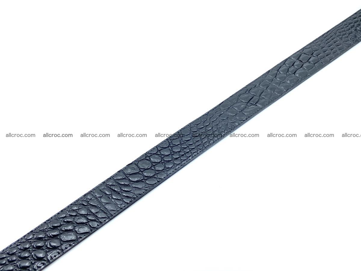 Handcrafted Crocodile leather belt 749 Foto 16