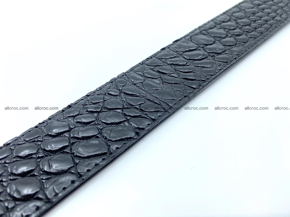Handcrafted Crocodile leather belt 749 Foto 17