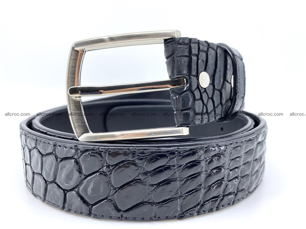 Handcrafted Crocodile leather belt 749 Foto 0