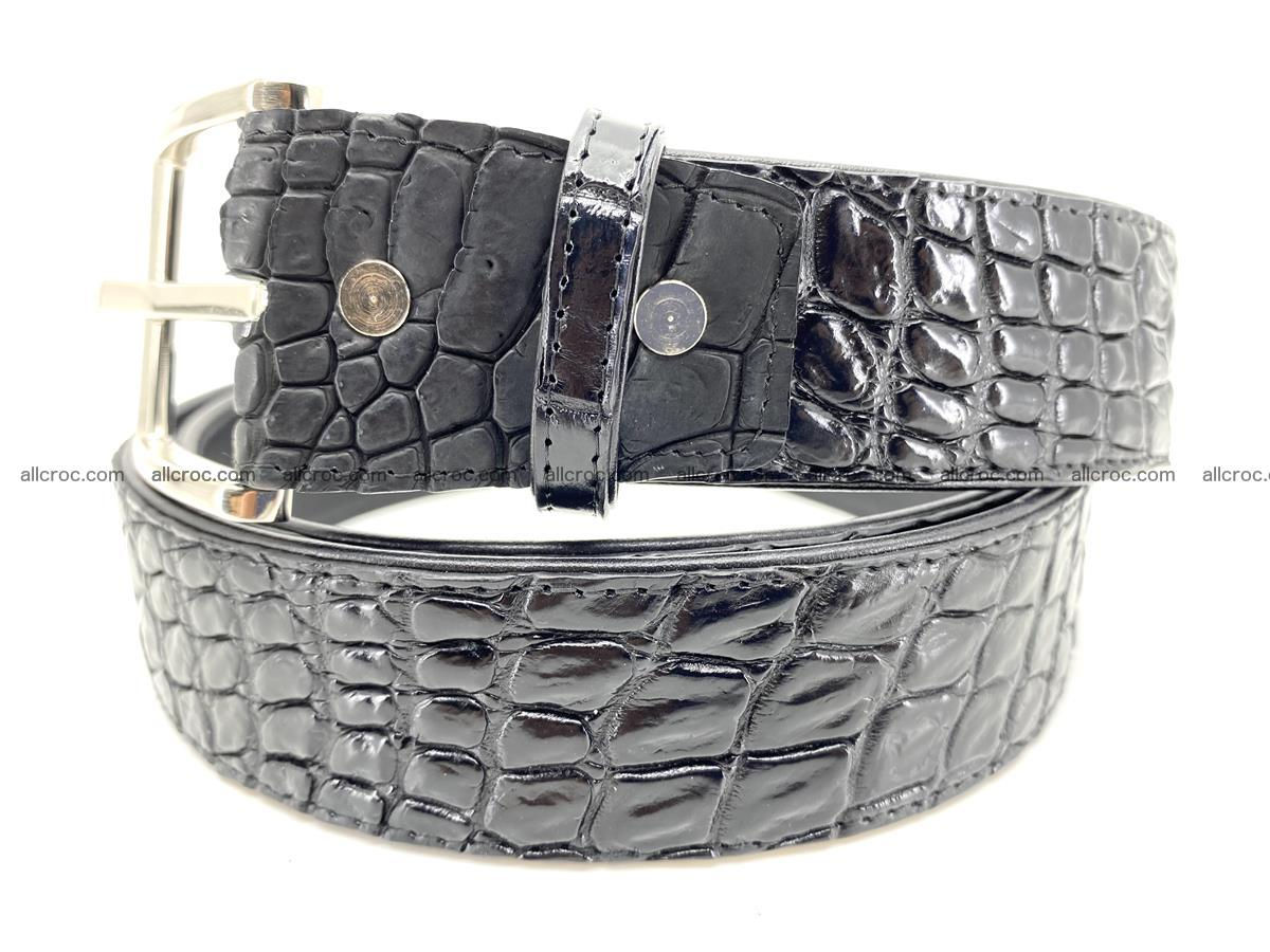 Handcrafted Crocodile leather belt 749 Foto 1
