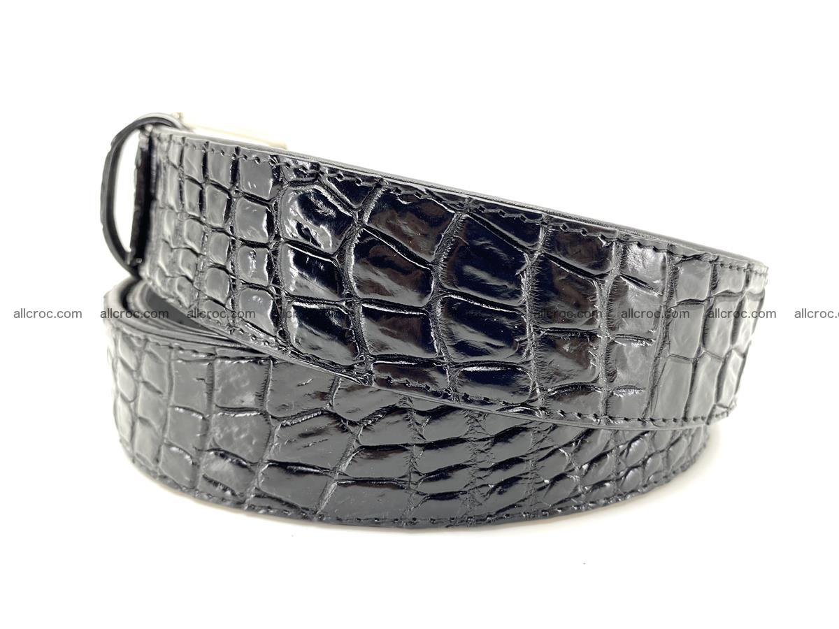 Handcrafted Crocodile leather belt 749 Foto 2