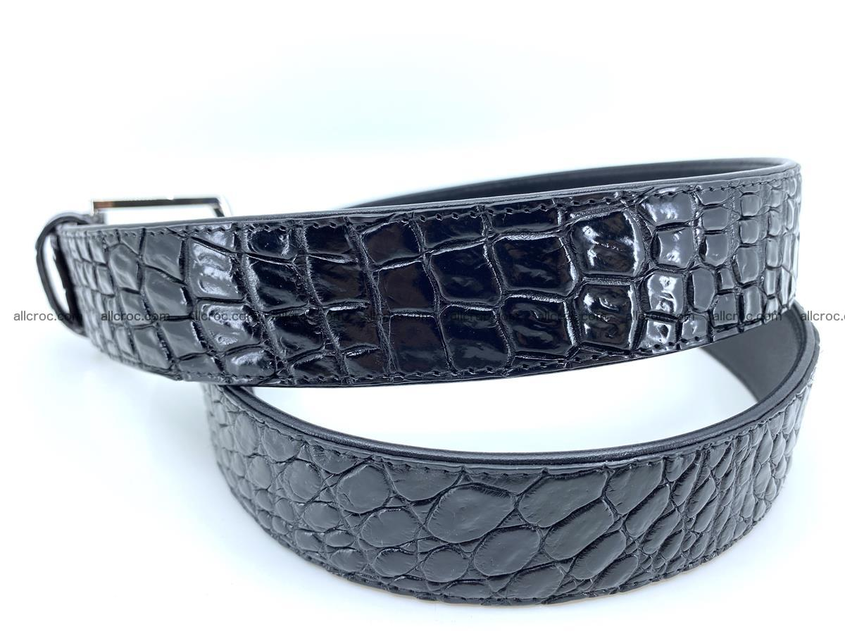 Handcrafted Crocodile leather belt 749 Foto 3
