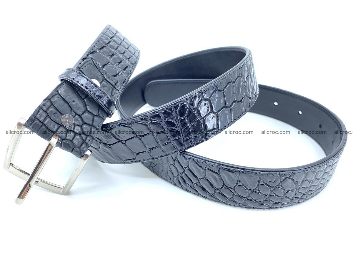 Handcrafted Crocodile leather belt 749 Foto 5