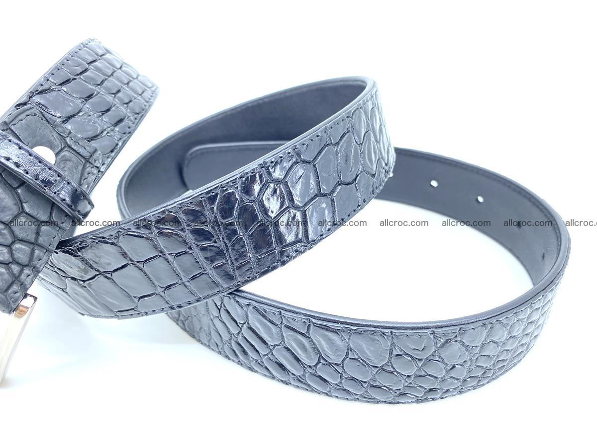 Handcrafted Crocodile leather belt 749 Foto 6
