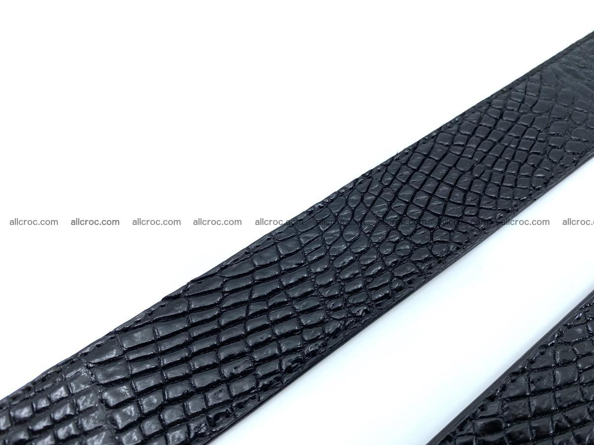 Handcrafted Crocodile leather belt 751 Foto 18