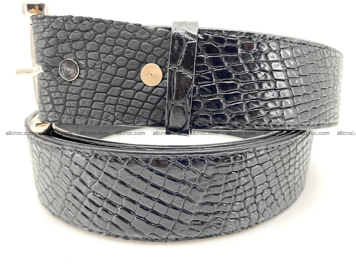 Handcrafted Crocodile leather belt 751 Foto 1