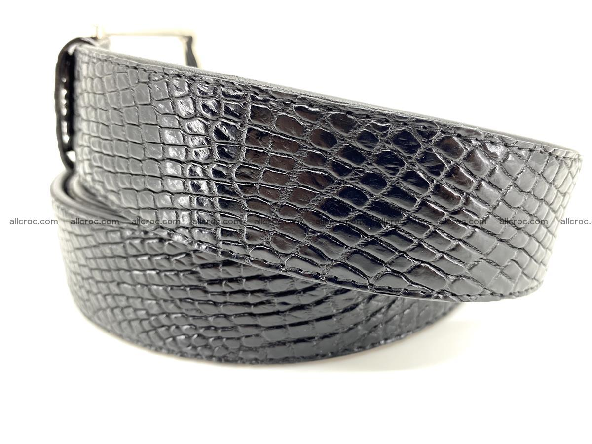 Handcrafted Crocodile leather belt 751 Foto 2