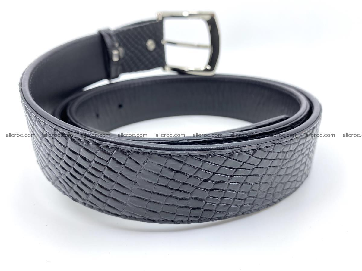 Handcrafted Crocodile leather belt 751 Foto 3