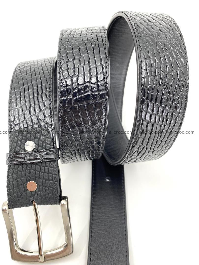 Handcrafted Crocodile leather belt 751 Foto 4