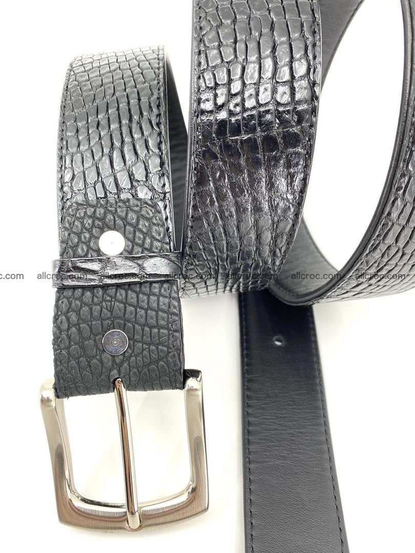 Handcrafted Crocodile leather belt 751 Foto 5
