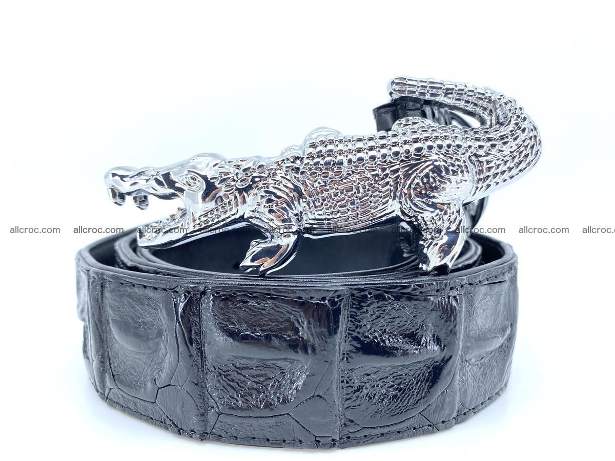 Handcrafted Crocodile leather hornback belt 765 Foto 0