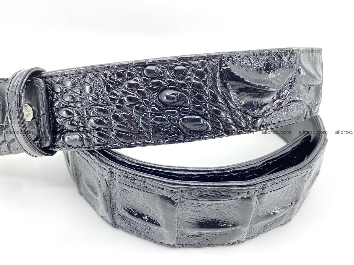 Handcrafted Crocodile leather hornback belt 765 Foto 2
