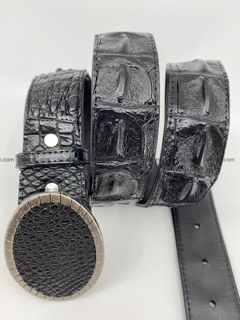 Handcrafted Crocodile leather hornback belt 774 Foto 2