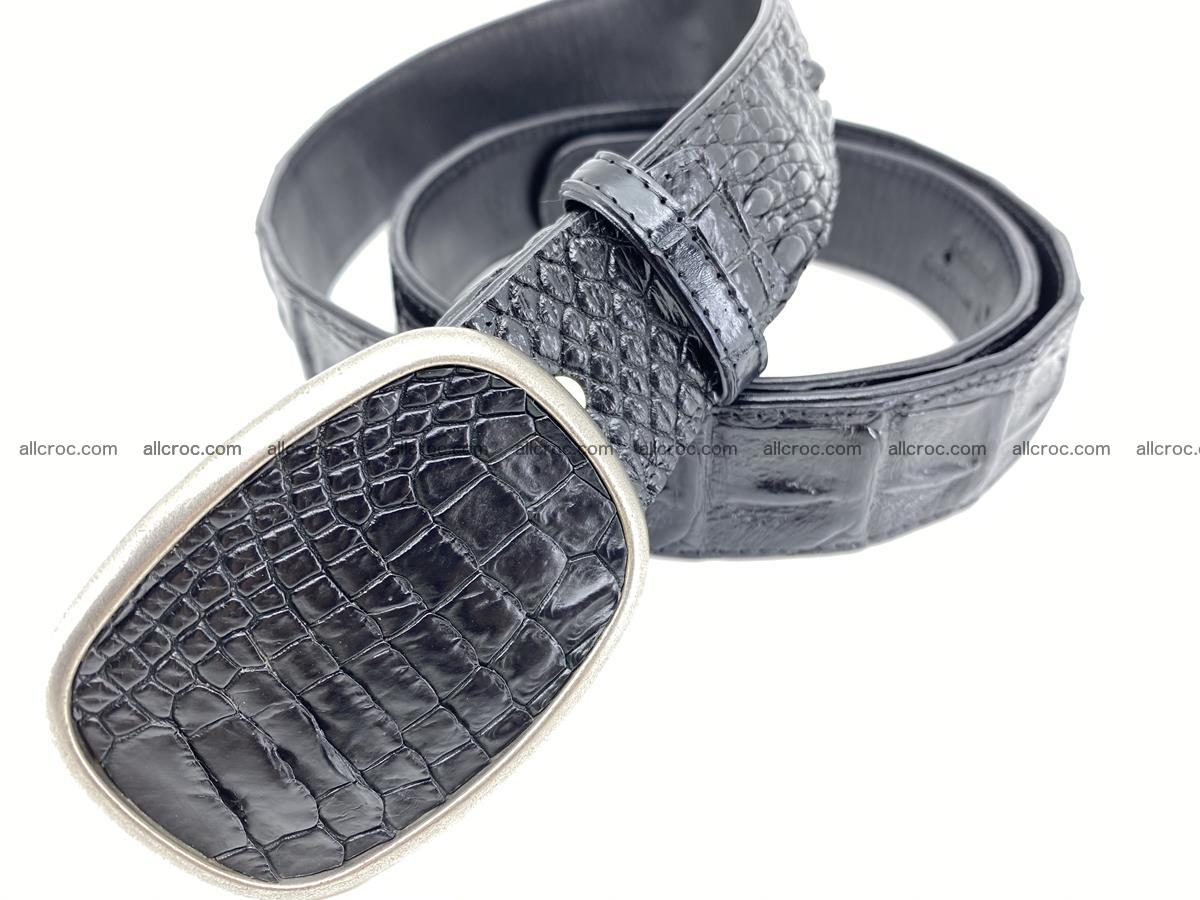 Handcrafted Crocodile leather hornback belt 779 Foto 1