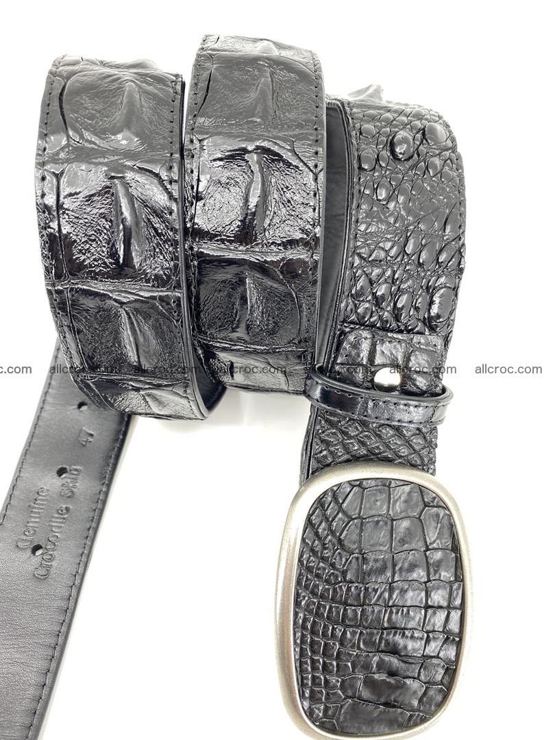 Handcrafted Crocodile leather hornback belt 779 Foto 2
