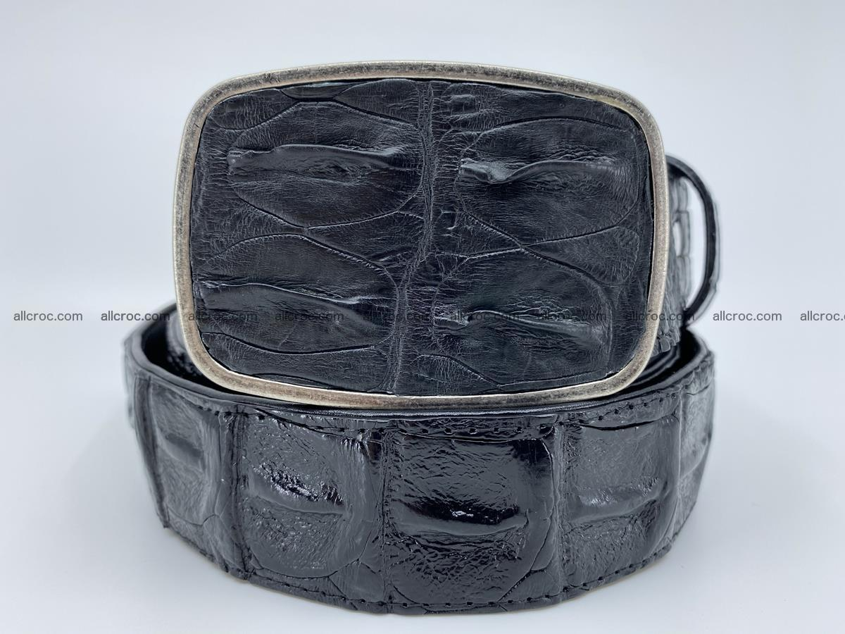 Handcrafted Crocodile leather hornback belt 788 Foto 0