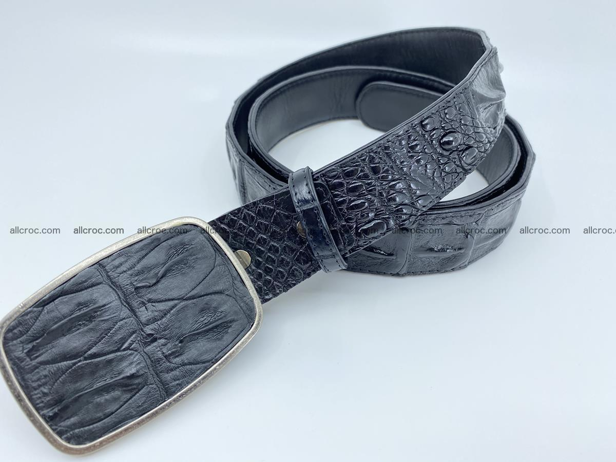 Handcrafted Crocodile leather hornback belt 788 Foto 1