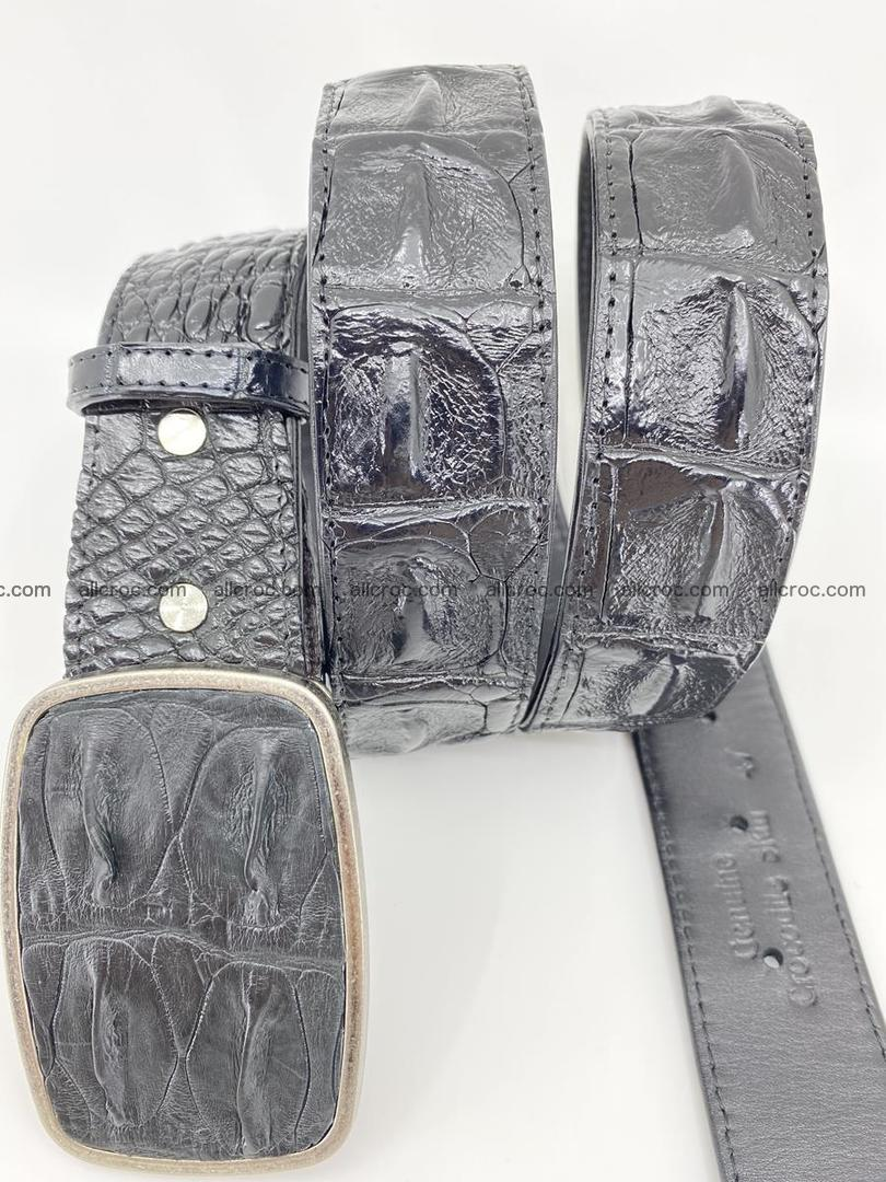 Handcrafted Crocodile leather hornback belt 788 Foto 2