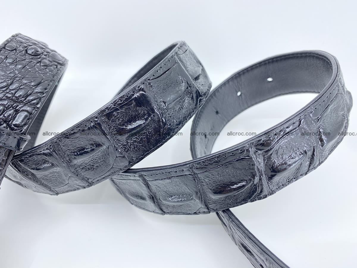 Handcrafted Crocodile leather hornback belt 788 Foto 4