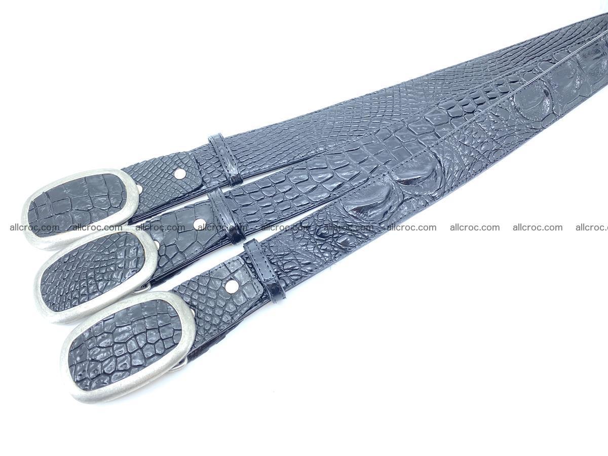 Handcrafted Crocodile leather hornback belt 800 Foto 6