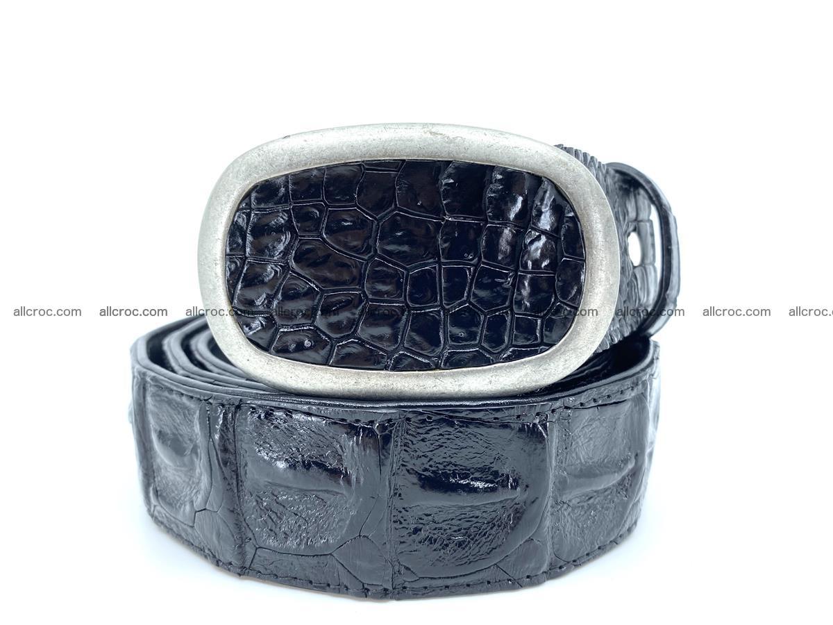 Handcrafted Crocodile leather hornback belt 800 Foto 0