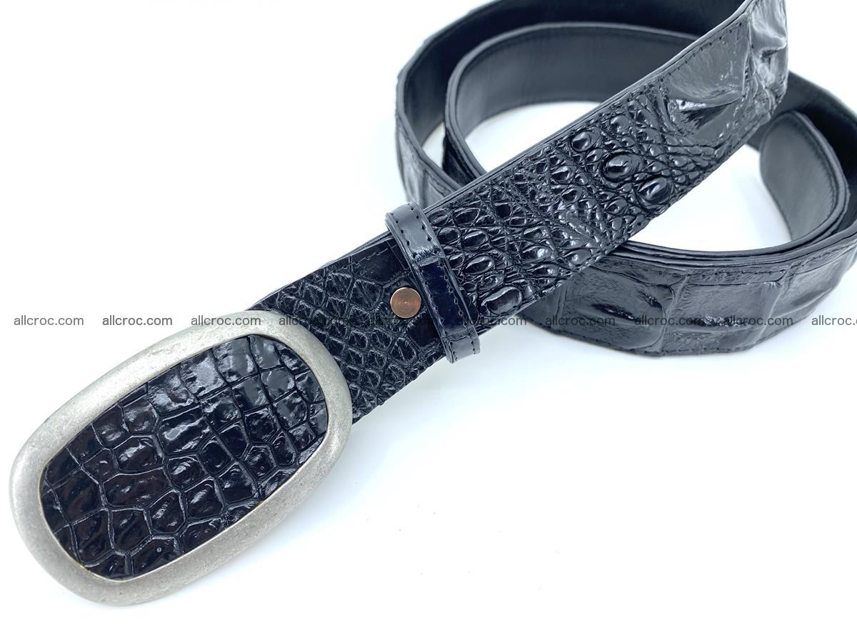 Handcrafted Crocodile leather hornback belt 800 Foto 1