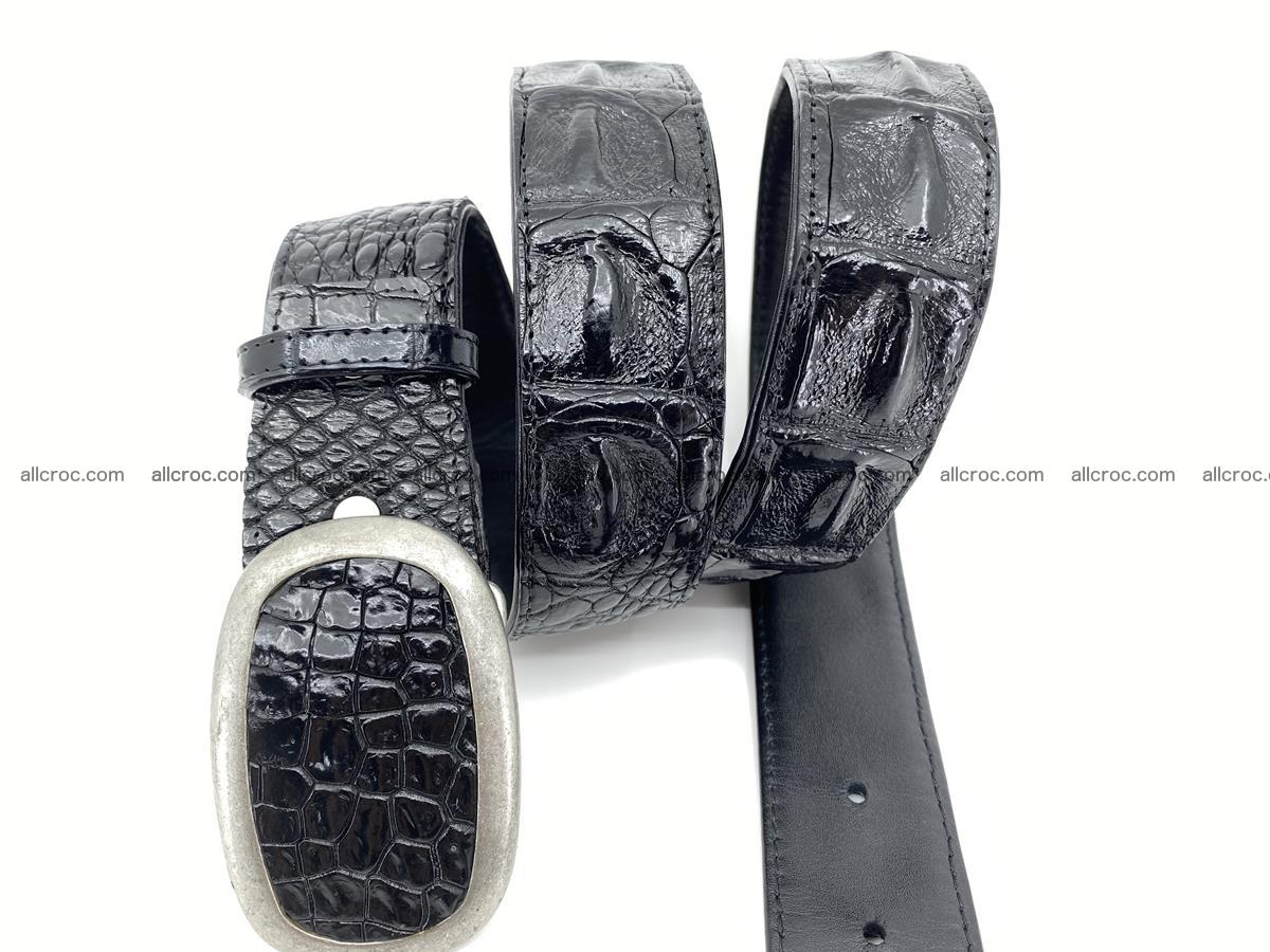 Handcrafted Crocodile leather hornback belt 800 Foto 2