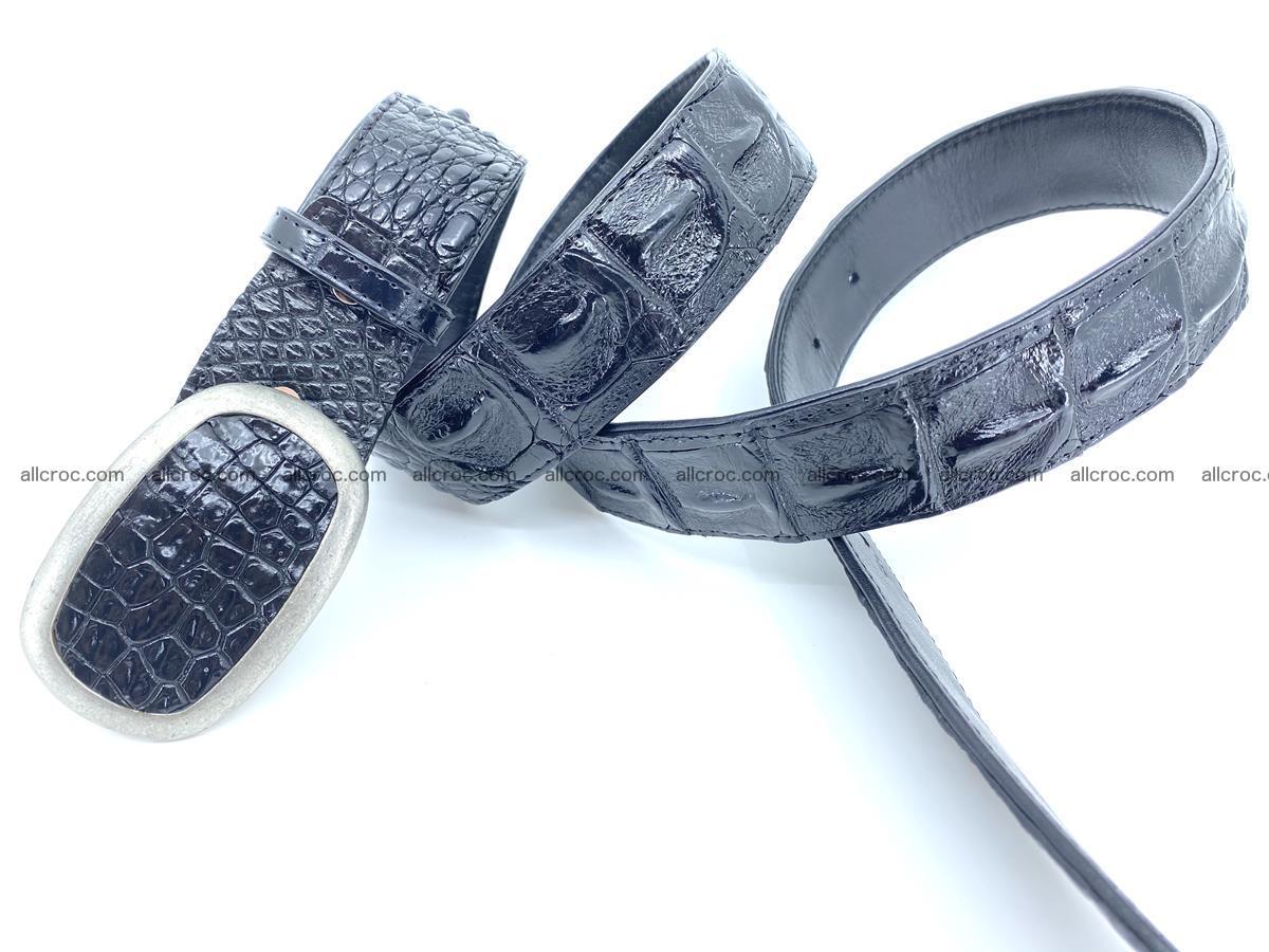 Handcrafted Crocodile leather hornback belt 800 Foto 3