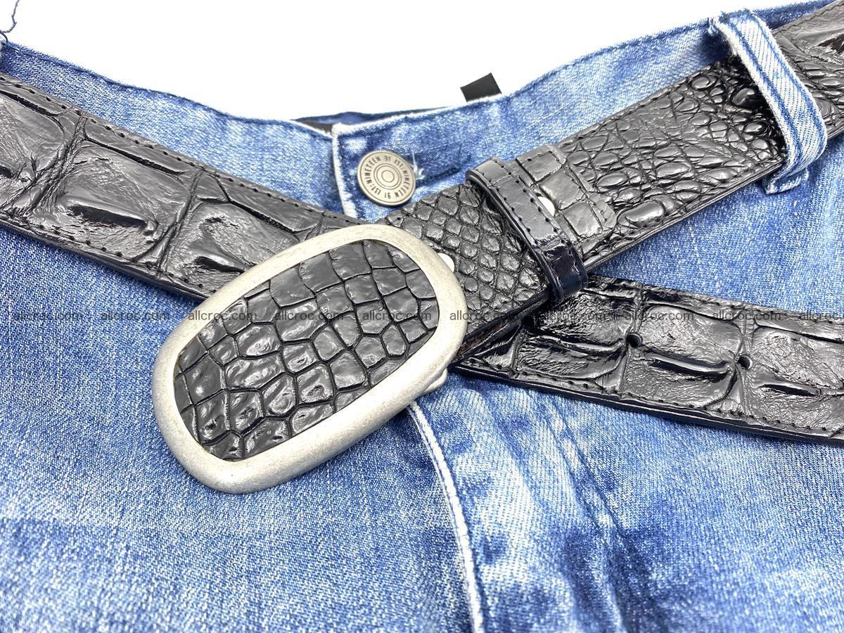 Handcrafted Crocodile leather hornback belt 800 Foto 5