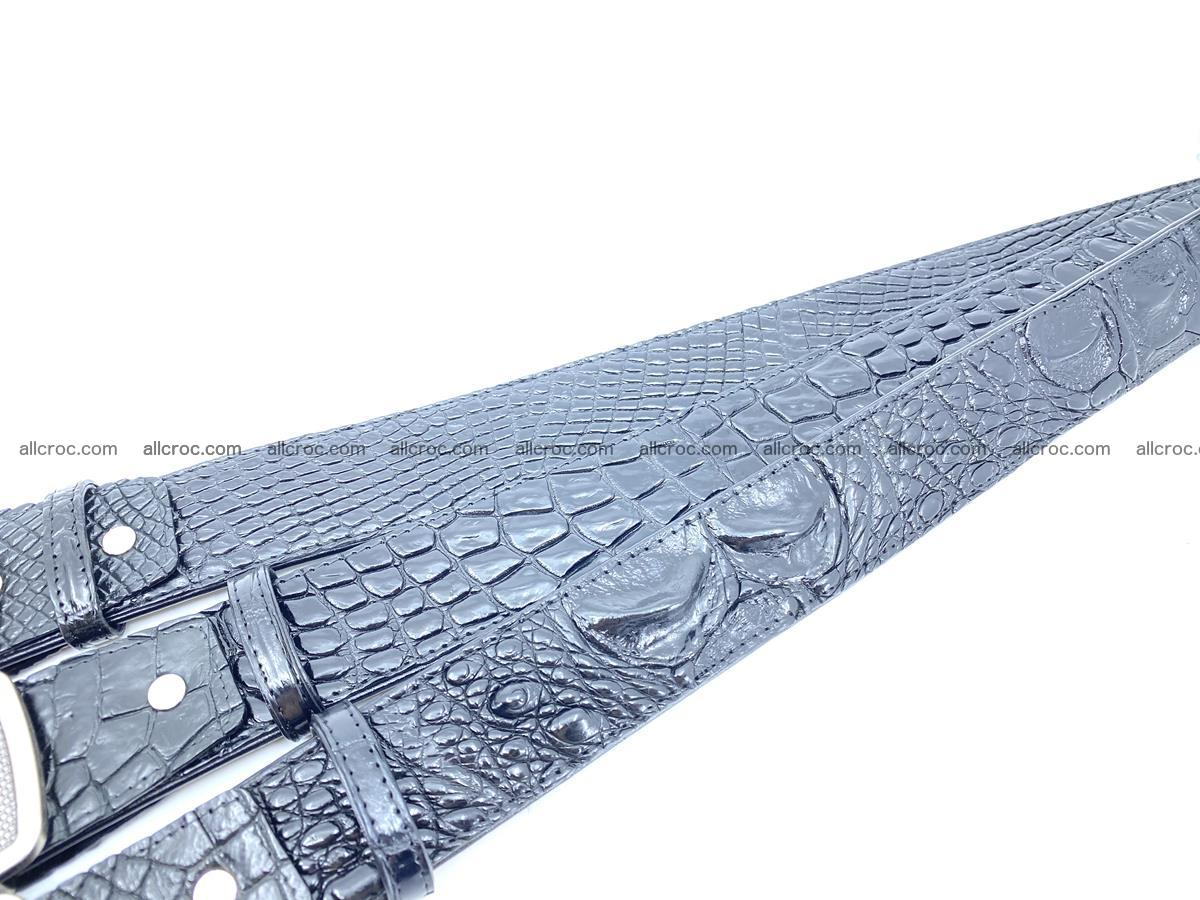 Handcrafted Crocodile leather hornback belt 807 Foto 10