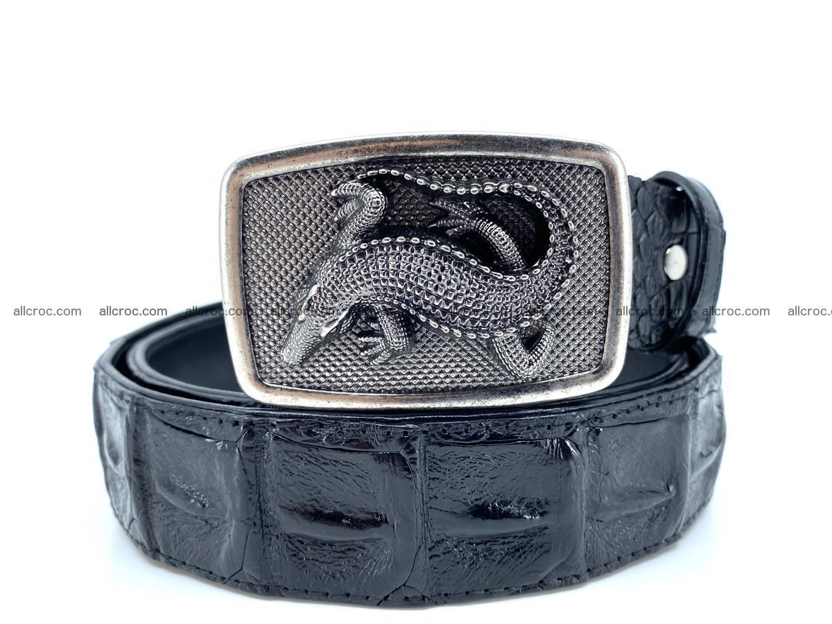 Handcrafted Crocodile leather hornback belt 807 Foto 0