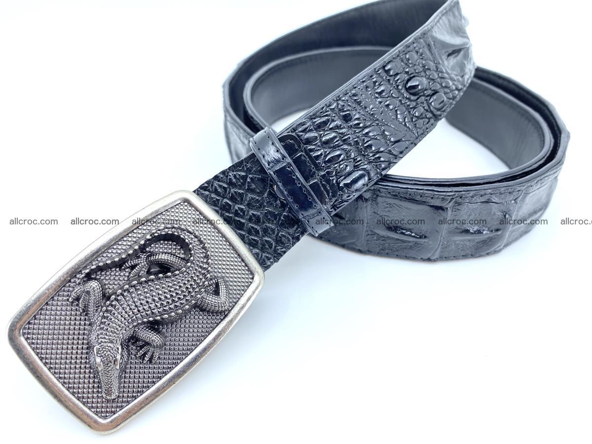 Handcrafted Crocodile leather hornback belt 807 Foto 1