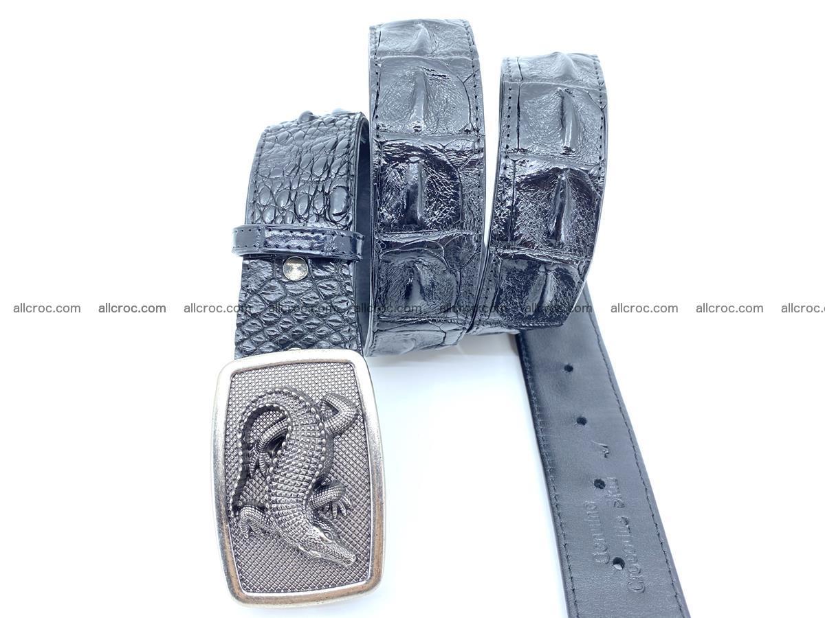 Handcrafted Crocodile leather hornback belt 807 Foto 2