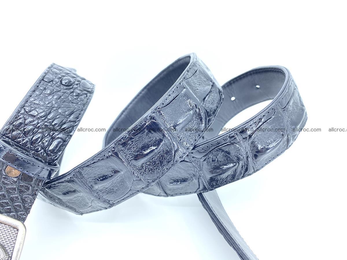 Handcrafted Crocodile leather hornback belt 807 Foto 4