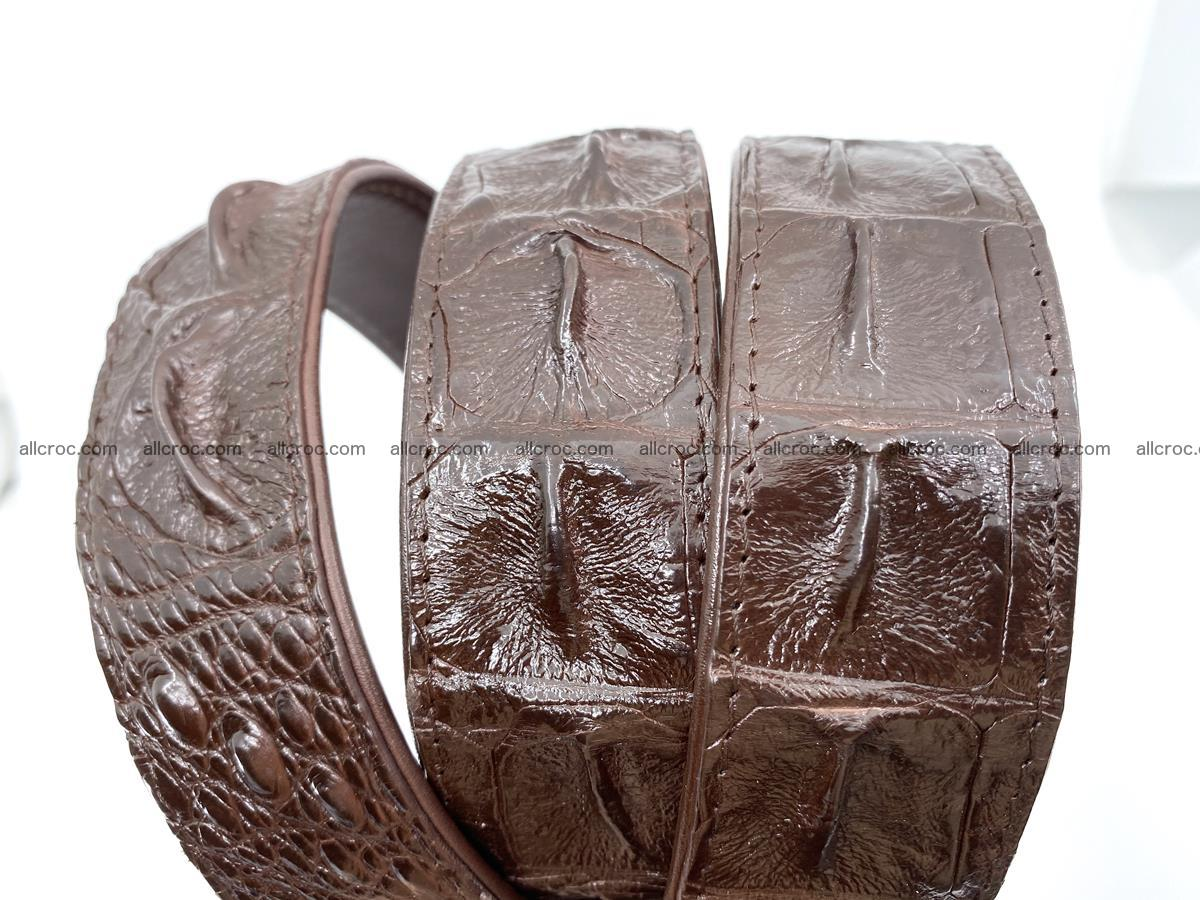 Handcrafted Crocodile leather hornback belt 747 Foto 6