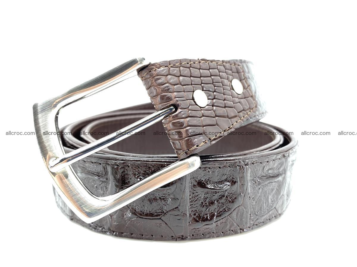 Handcrafted Crocodile leather hornback belt 747 Foto 0